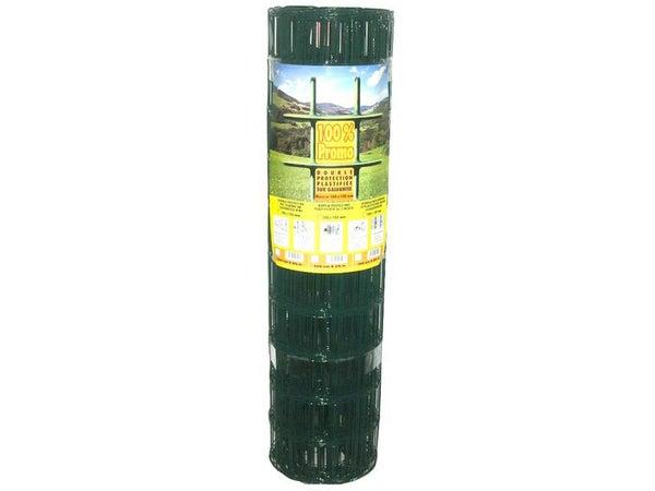 Grillage rouleau soudé vert, H.1.5 x l.20 m, maille 100X100