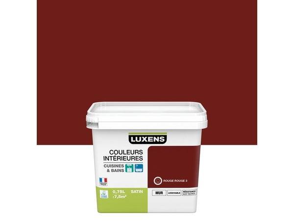 Peinture Couleurs Intérieures Luxens, Rouge Rouge 3, 0.75 L