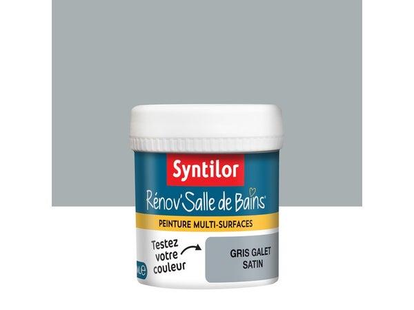 Testeur Peinture Salle De Bains Toute Surface Rénov'Salle De Bains Syntilor Gris