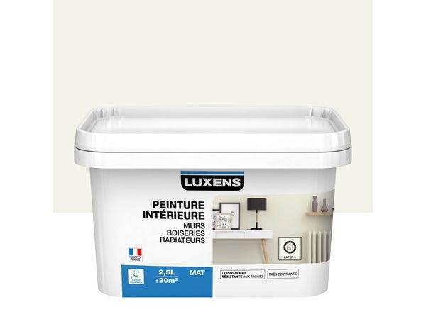 Peinture Mur, Boiserie, Radiateur Multisupports Luxens Paper 5 Mat 2.5 L