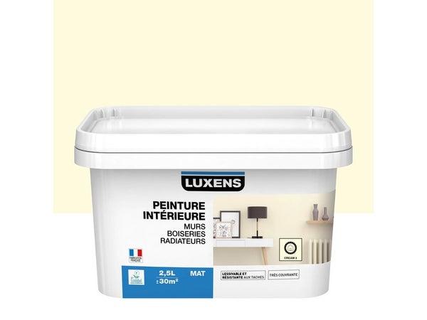 Peinture Mur, Boiserie, Radiateur Multisupports Luxens Cream 3 Mat 2.5 L