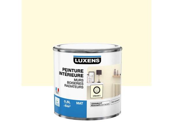 Peinture Mur, Boiserie, Radiateur Multisupports Luxens Cream 3 Mat 0.5 L