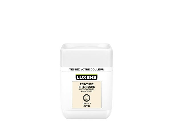 Testeur Peinture, Mur, Boiserie, Radiateur Luxens, Cream 2, Satin, 0.05