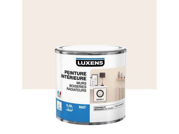 Peinture Mur, Boiserie, Radiateur Multisupports Luxens Paper 3 Mat 0.5 L