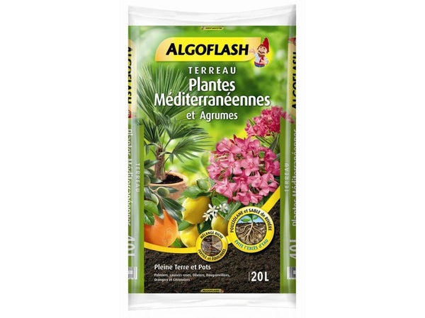 Terreau Plantes Méditerranéennes Algoflash, 20 L