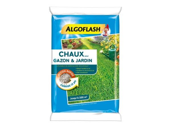 Chaux Gazon Et Jardin Algoflash 10Kg 200 M²