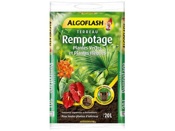 Terreau De Rempotage Algoflash, 20 L