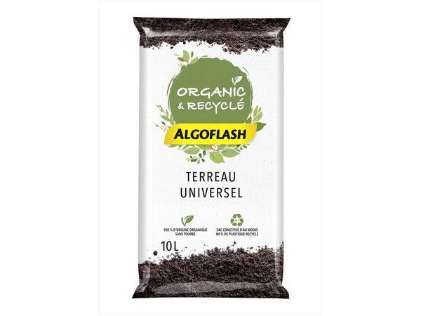 Terreau Universel 100% Organique Algoflash, 10 L