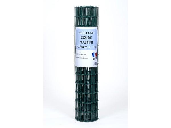 Grillage vert 100 x 75 cm H. 1.20 m L. 25 m